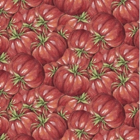 Carols Corner Market Tomatoes Mia Collection Digital Cotton Fabric
