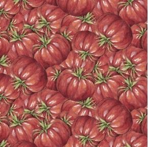 Picture of Carol's Corner Market Tomatoes Mia Collection Digital Cotton Fabric