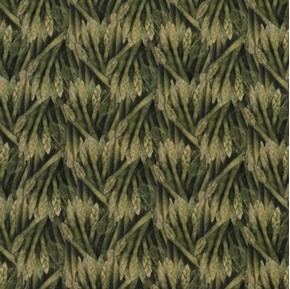 Picture of Carol's Corner Market Asparagus Mia Collection Digital Cotton Fabric