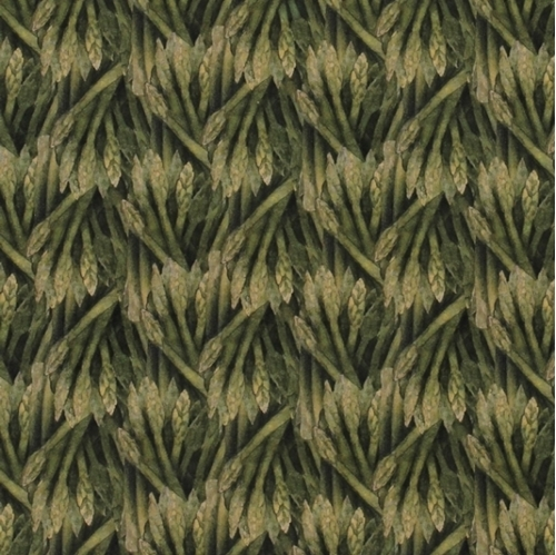 Carols Corner Market Asparagus Mia Collection Digital Cotton Fabric