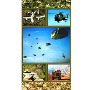 Picture of American Spirit Army Duty Honor Country 24x44 Cotton Fabric Panel