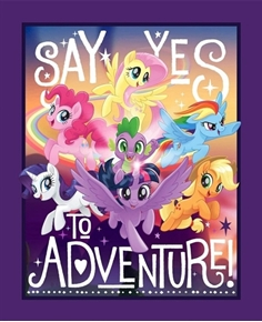 My Little Pony Say Yes to Adventure Large Cotton Fabric Panel