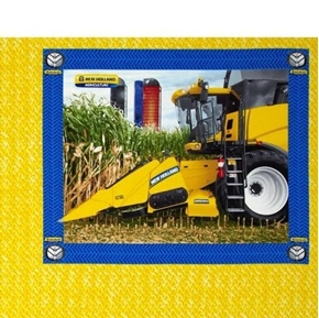 New Holland Combine and Silos Farming Pillow Panel