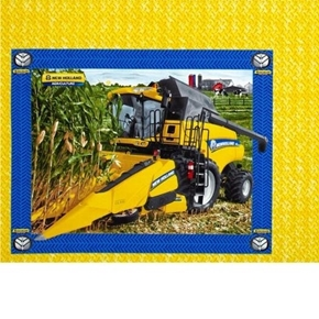 New Holland Combine Harvesting Corn Farming Pillow Panel