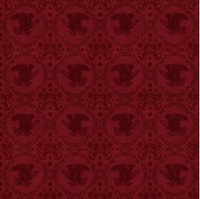 Picture of Stars and Stripes Forever Eagle Medallion Maroon Cotton Fabric