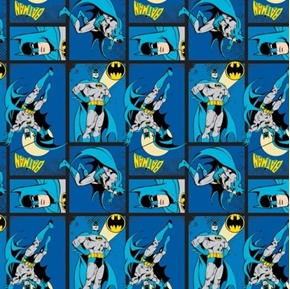 Picture of Batman DC Comics II Batman Action in Blocks Royal Blue Cotton Fabric