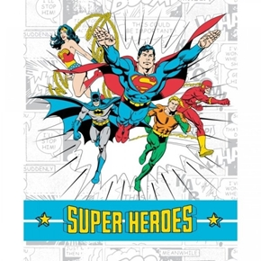 Picture of DC Comics II Super Heroes Superhero Large Cotton Fabric Panel