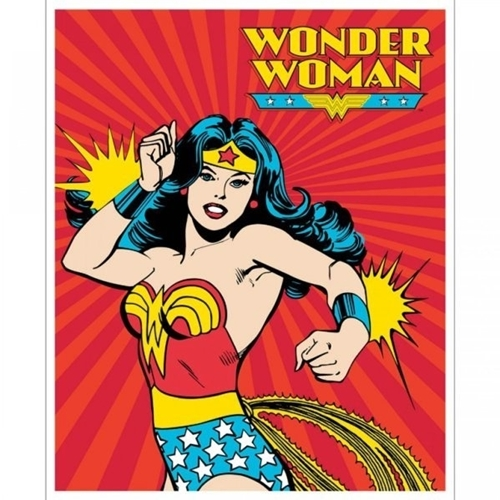Wonder woman superhero cartoon