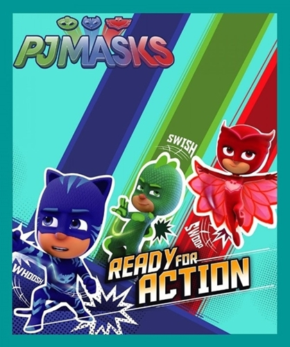 Picture of PJ Mask Ready For Action Catboy Owlette Gekko Cotton Fabric Panel