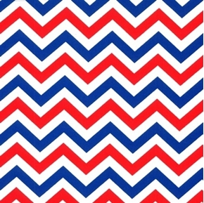Picture of Patriotic Chevrons Made in USA Red White Blue Chevron Cotton Fabric