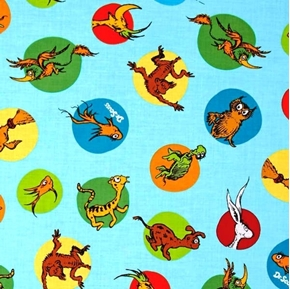 Dr. Seuss What Pet Should I Get? Pets Dog Bird Turtle Cotton Fabric