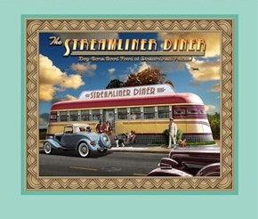 Artworks VIII Retro Diner Streamliner Traincar Fabric Pillow Panel