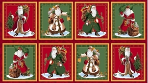 Picture of Sew N Go IV Vintage Santa Picture Patch 24x44 Cotton Fabric Panel