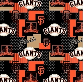 Picture of MLB Baseball San Francisco Giants 2018 Design 18x29 Cotton Fabric