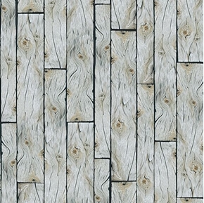 Labrador-able Wood Planks Wooden Wall Floor Grey Cotton Fabric