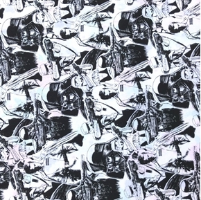 Picture of Rogue One: A Star Wars Story Black and White Cotton Fabric