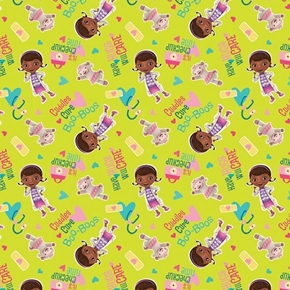 Picture of Disney Doc McStuffins Cuddles Cure Boo Boos Checkup Cotton Fabric