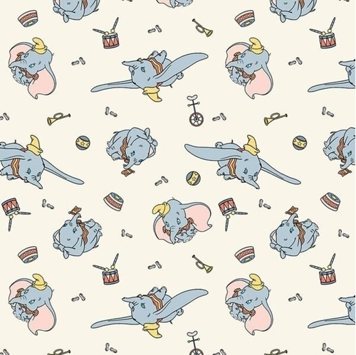 Picture of Disney Classic Dumbo Circus Fun Bike Ball Horn Cream Cotton Fabric