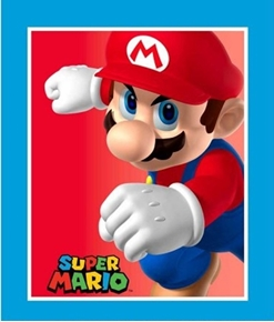 Nintendo Super Mario Brothers Video Game Large Cotton Fabric Panel