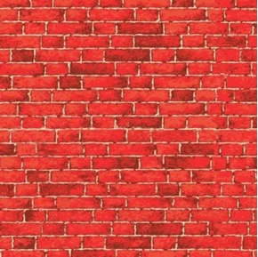 Picture of Nintendo Pizza Brick House Brick Wall Red Bricks Cotton Fabric
