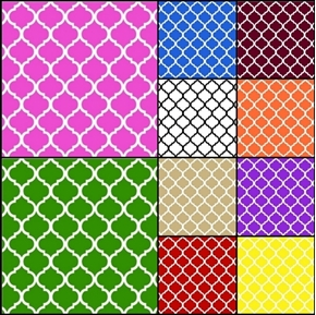 Picture of Quatrefoils 10 Fat Quarter Cotton Fabric Collection