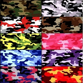 Picture of Kickin Camo 10 Fat Quarter Cotton Fabric Collection