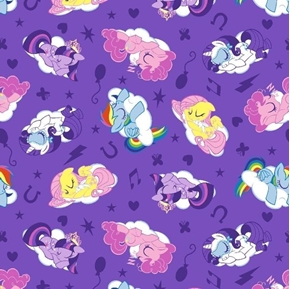 Flannel My Little Pony Traditional Sleeping Ponies Cotton Fabric