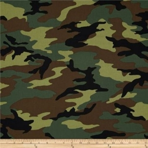 Picture of Army Camouflage Green Tan Olive Camo Pattern Cotton Fabric