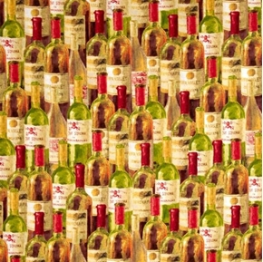 Picture of Uncorked Wine Bottles Sonoma Napa Valley Cotton Fabric
