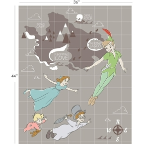 Picture of Disney Peter Pan and Neverland Large Cotton Fabric Panel