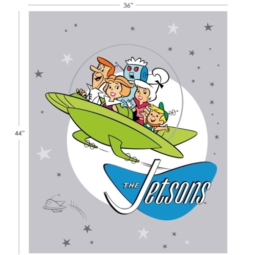 Jetsons Hanna-Barbera Family Space Ship Large Cotton Fabric Panel