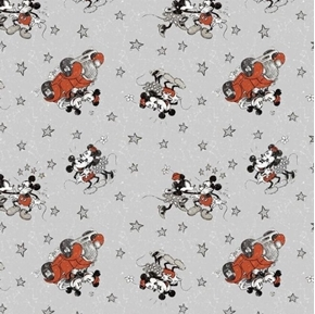 Picture of Disney Mickey and Minnie Vintage Married Life Cotton Fabric