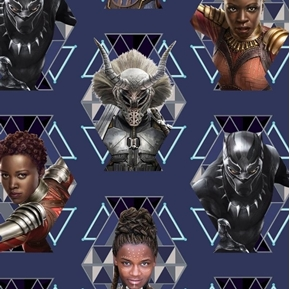 Picture of Marvel Black Panther Wakanda Warriors Shuri Nakia Cotton Fabric