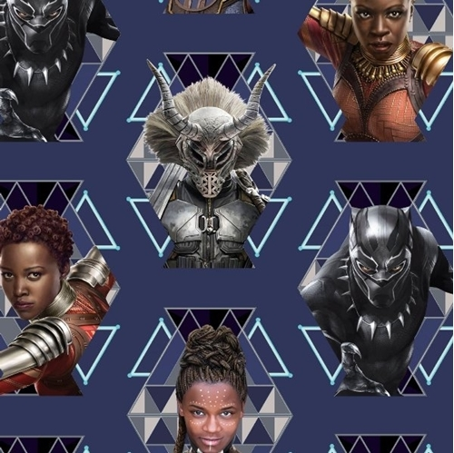 Picture of Marvel Black Panther Wakanda Warriors Shuri Nakia Cotton Fabric