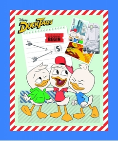 Picture of Disney Classic Ducktales Travel Large Cotton Fabric Panel