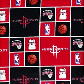 NBA Basketball Houston Rockets Cotton Fabric
