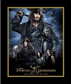 Picture of Pirates of the Caribbean Capt Jack Sparrow Large Cotton Fabric Panel