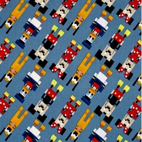 Picture of Disney Mickey and Friends Crossy Road Digital-look Cotton Fabric