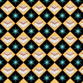 Bowl-A-Rama Bowling Diamond Pins Black Cotton Fabric