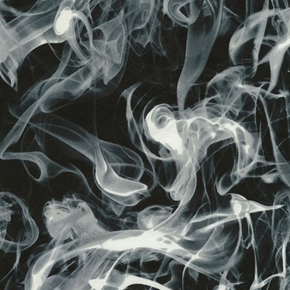 Picture of Wicked Grey Smoke on Black Cotton Fabric