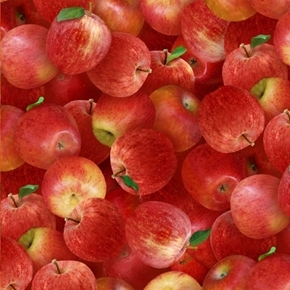 Food Festival Apples Delicious Red Apple Fruit Cotton Fabric