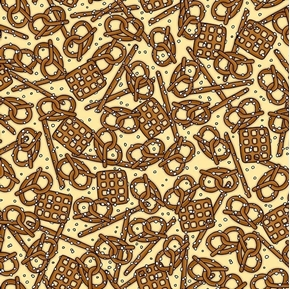 Picture of In Doubt, Drink Stout Pretzels Salty Pretzel Snack Wheat Cotton Fabric