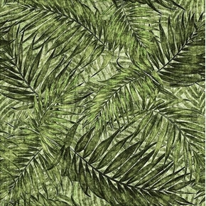 Picture of Caravan Palm Leaves Green Palm Tree Leaves Cotton Fabric