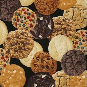 Cookies Gourmet Cookie Chocolate Chip Peanut Butter Cotton Fabric