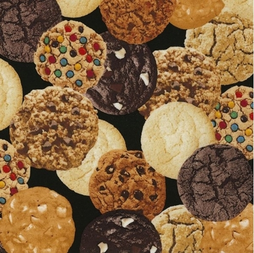 Picture of Cookies Gourmet Cookie Chocolate Chip Peanut Butter Cotton Fabric