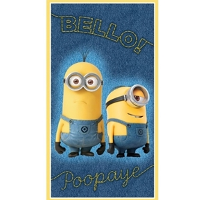 Picture of Despicable Millions of Minions Bello Poopaye 24x44 Cotton Fabric Panel