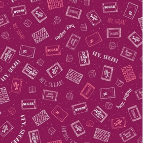 Caf-fiend Sugar Packets Raw Sugar Hey Sugar Plum Cotton Fabric