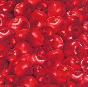 Apples Red Delicious Apples Cotton Fabric
