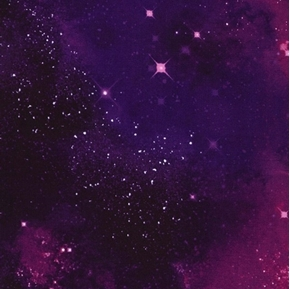 Picture of Galaxy Space Solar System Stars Nebulas Stardust Purple Cotton Fabric