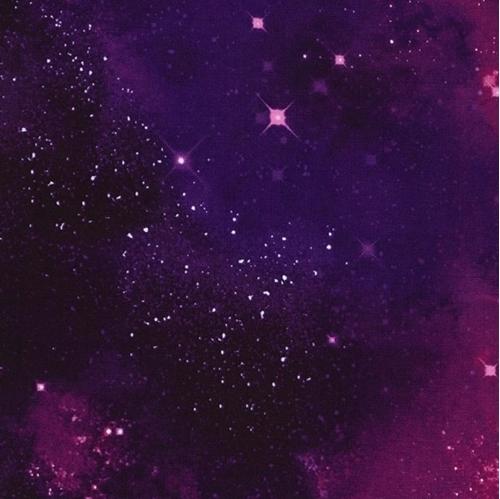 Galaxy Space Solar System Stars Nebulas Stardust Purple Cotton Fabric